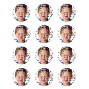 "Pack of 24 Sheets Edible Image Print-Ons Frosting Sheets 2"" Rounds"