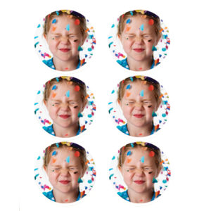 """Pack of 24 Sheets Edible Image Print-Ons Frosting Sheets 3"""" Rounds"""