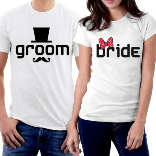 Personalized Groom Bride Tshirt